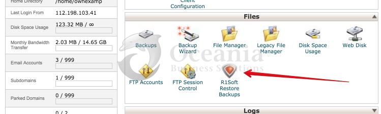 Backups Using R1Soft Restore Fig 1