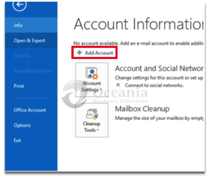 Configure Email in Outlook 2013 Fig 2