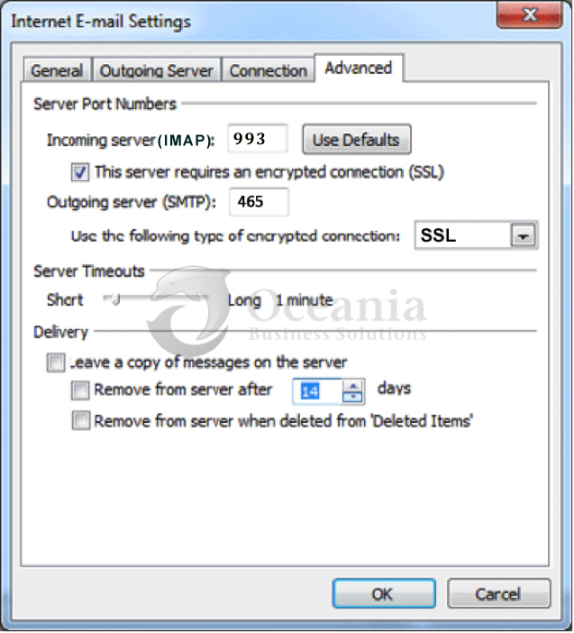 Setting up an email account in Outlook 2007 Fig 7