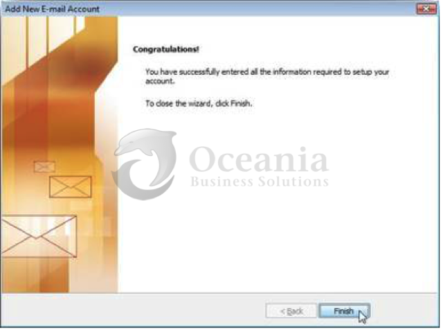Setting up an email account in Outlook 2007 Fig 8
