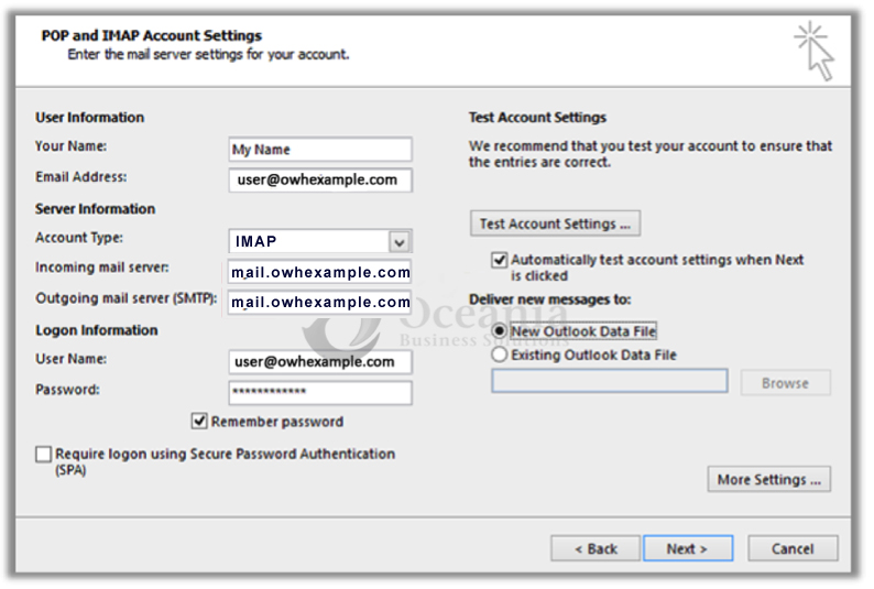 Configure Email in Outlook 2013 Fig 5